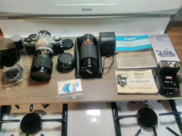 Canon AE-1 Program camera kit $140 obo
