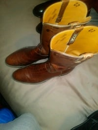 pair of brown leather cowboy boots Houston, 77063