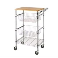 Wheeled Kitchen Cart with Solid Wood Cutting Board  Toronto, M5R 2W8