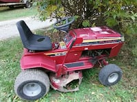 red Murray riding mower