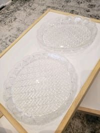 Glass serving plates Mississauga