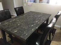 Marble dining table with 4 chairs  Edmonton, T6K 4A8