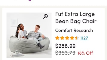 Oversized bag couch/chair