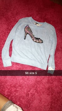 Blue stiletto shoe printed sweatshirt Sioux Falls, 57103