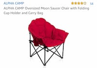 red and black camping chair Chino Hills, 91709