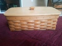 Longaberger Vanity Basket - w/ lid and full liner  Herndon, 20170