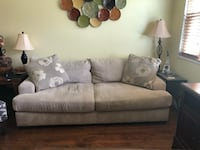Light gray couch with accent pillows Alexandria, 22304