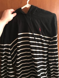 Black and white stripes ralph lauren pullover hoodie Neenah, 54956