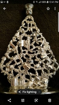 Antique silver Christmas candle holder Henderson, 89014