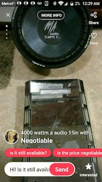 Sub and amp are 4000 watts a peice Springfield, 65803