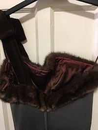 Period Piece 70's Brown Mink And Jersey Gown. Toronto, M8V 4E8