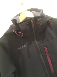 svart Twentyfour zip-up jakke