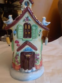 Large birdhouse candle holder