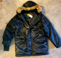 NEW!!! MEN'S HQ ISSUE lined coat