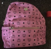pink and black MCM leather backpack Little Rock, 72206