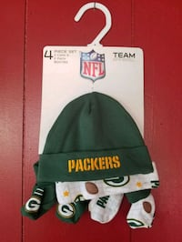 Green Bay Packers baby cap and booties set Whittier, 90605