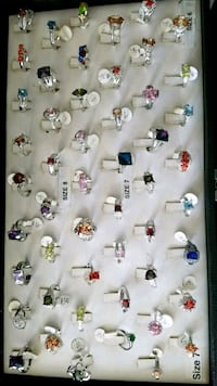 50 rings sizes 5 to10 925 sterling silver $500 for Montclair, 91763