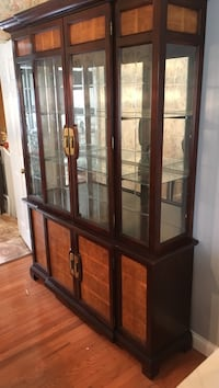 China cabinet and matching table set