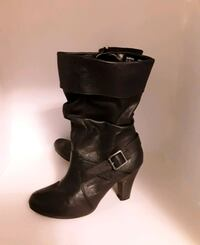 Size 7 black boots $10 Catoosa