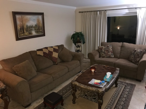 Used 2 COUCHES - LIGHT WARE AND TEAR LIVING ROOM SET for ...