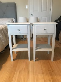 two white wooden side tables Washington, 20002