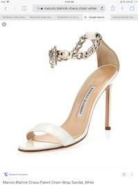 Authentic manolo blahnik size 7 or closer to 7,5 worn once dont fit me gorgeous shoes for summer sold out everywhere including the states.  Vancouver, V6B 0A2
