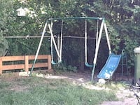 white and brown wooden swing and slide Saint Thomas, N5R 2R3