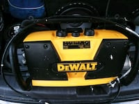 yellow and black DEWALT worksite radio 2345 mi