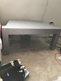 black wooden frame glass top TV stand Calgary, T2T 2G5