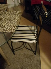 two black metal framed white padded chairs Clovis, 88101