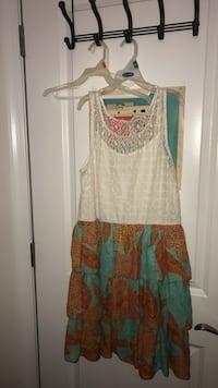 white, green, and orange sleeveless dress Fairfax, 22030