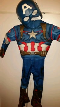 """Rubie's Costumes Captain America with mask. size toddler  32"""" length"""