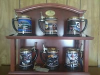 four stainless steel beer steins 66 km