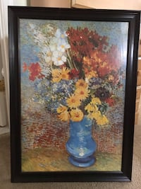 Framed Flower Print 23x31.5 Wilmington