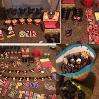 Mickey Mouse birthday decorations and supplies 360 mi