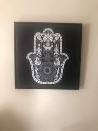 Hamsa Hand Black and white framed with silver stones Baltimore, 21201