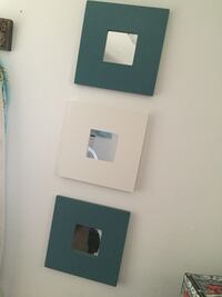 two blue one white wooden frame wall mirrors Gatineau, J8P 5P8