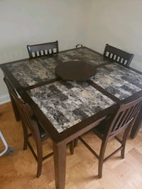 Brown faux marble table with four chairs Beltsville, 20705