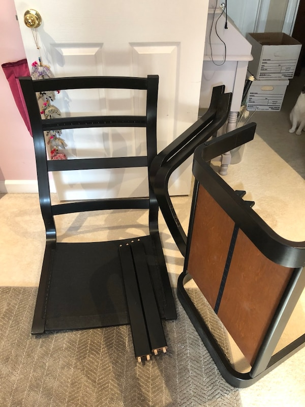 Magnificent Ikea Poang Chair And Footstool Frames Painted Black Creativecarmelina Interior Chair Design Creativecarmelinacom