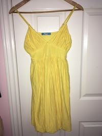 yellow spaghetti strap mini dress Barrie, L4N 4H6