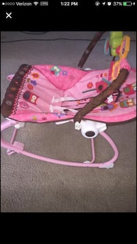 baby's brown,white,and pink deluxe bouncer Valley, 36854