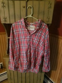 red and white plaid button-up shirt Guilford, 17202