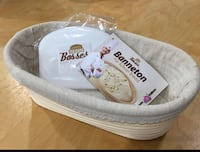 Brand new 10 Inch Oval Banneton Proofing Basket (pick up only) Alexandria, 22304