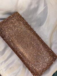Rose Gold Sparkly Clutch