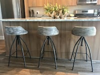 Three Kairu Counter or Bar Stools For Sale Arlington