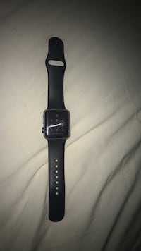 space gray aluminum case Apple Watch with black Sport Band Laurel, 20708