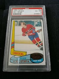 1980 TOPPS GUY LAFLEUR ALLSTAR HOCKEY CARD GRADED  Pickering, L1V 3V7