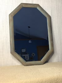 Oak dry brushed painted mirror see all pics for measurements and color East Grand Rapids, 49506