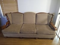 Sturdy wood couch