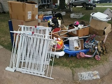 Garage sale left overs. Must take all. No digging!